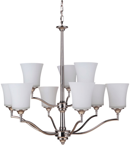 Craftmade 41729-PLN Helena 9 Light 31 inch Polished Nickel Chandelier Ceiling Light, Jeremiah photo