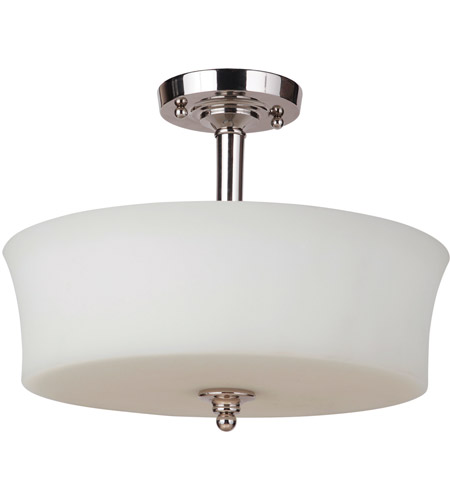 Craftmade 41753 Pln Helena 3 Light 15 Inch Polished Nickel Semi Flush Ceiling Light Jeremiah