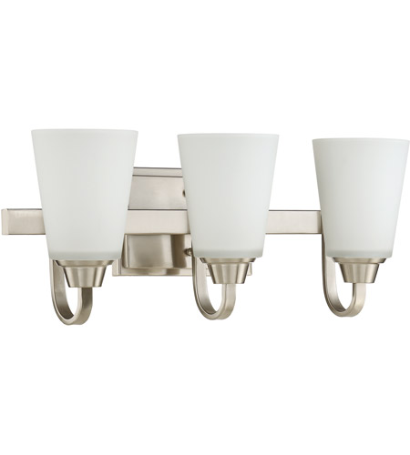 Craftmade 41903-BNK Grace 3 Light 21 inch Brushed Polished Nickel ...