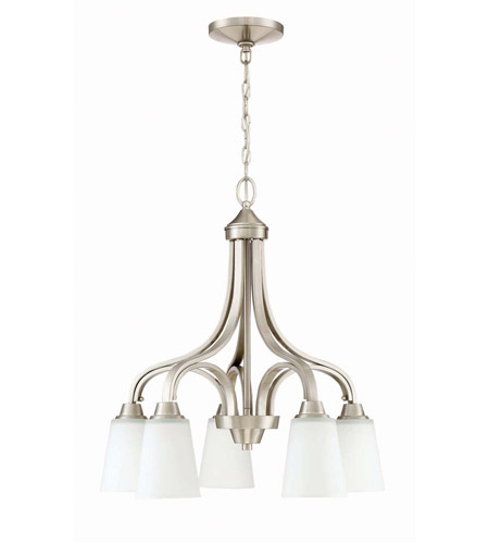 Craftmade 41915 Bnk Grace 5 Light 24 Inch Brushed Polished Nickel Down Chandelier Ceiling
