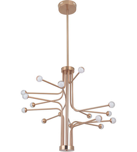 Craftmade 43016-SB-LED Solis LED 33 inch Satin Brass Chandelier Ceiling Light photo