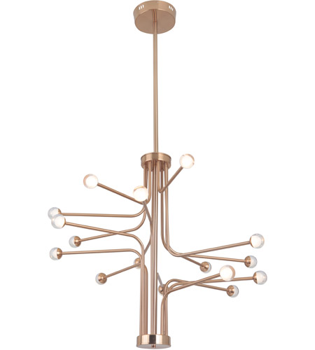 Craftmade 43016-SB-LED Solis LED 33 inch Satin Brass Chandelier Ceiling Light alternative photo thumbnail