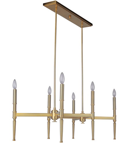 Craftmade 44626-SB Ella 6 Light 22 inch Satin Brass Chandelier Ceiling Light photo