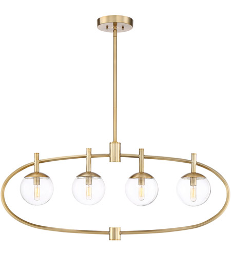 45574 >> Craftmade 45574 Sb Piltz 4 Light 40 Inch Satin Brass Island Light