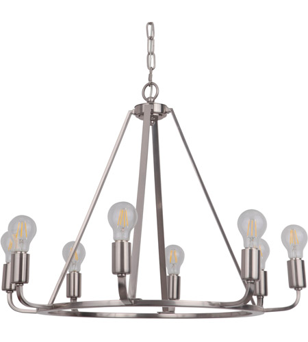 Craftmade 45928-PLN Arc 8 Light 28 inch Polished Nickel Chandelier Ceiling Light photo