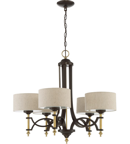 Colonial 5 Light 29 Inch Antique Gold And Bronze Chandelier Ceiling
