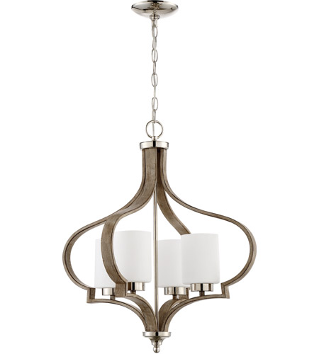 Craftmade 46724-PLNWF Jasmine 4 Light 22 inch Polished Nickel and Weathered Fir Chandelier Ceiling Light photo