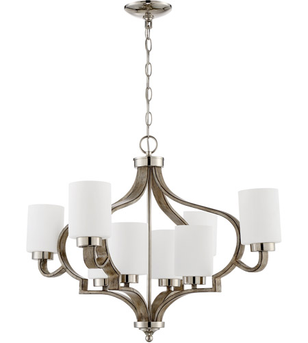 Craftmade 46728-PLNWF Jasmine 8 Light 30 inch Polished Nickel and Weathered Fir Chandelier Ceiling Light photo