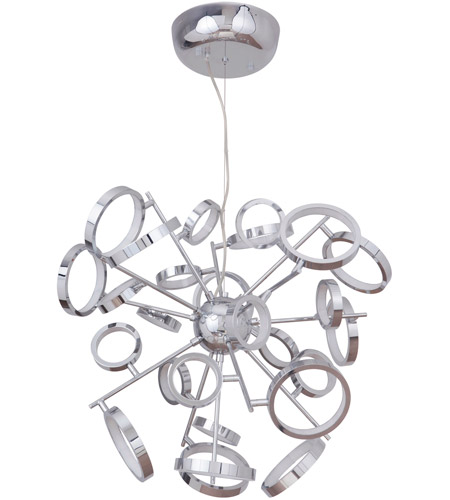 Craftmade 47126 CH LED Mira 28 Inch Chrome Adjustable Chandelier Ceiling Light