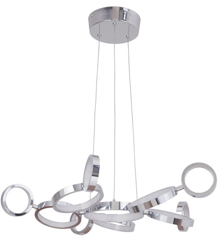 Craftmade 47191-CH-LED Mira LED 28 inch Chrome Adjustable Chandelier Ceiling Light photo