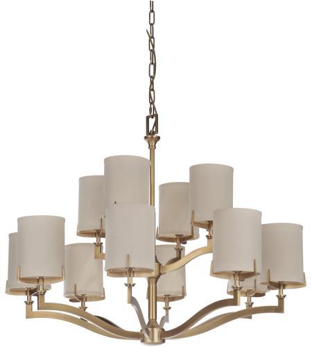 Craftmade 48312 VB Devlyn 12 Light 38 Inch Vintage Brass Chandelier Ceiling  Light, Gallery