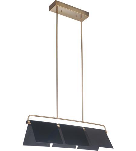 Craftmade 49573-GBKSB-LED Tente LED 36 inch Gloss Black and Satin Brass  Island Light Ceiling Light