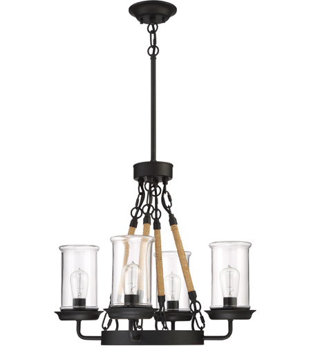 Homestead 4 Light 24 Inch Espresso Outdoor Chandelier