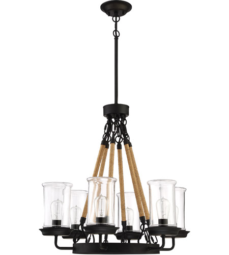 Homestead 6 Light 27 Inch Espresso Outdoor Chandelier