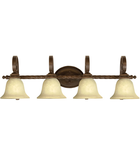 Craftmade 8136ag4 riata 4 light 37 inch aged bronze textured vanity light wall light in antique