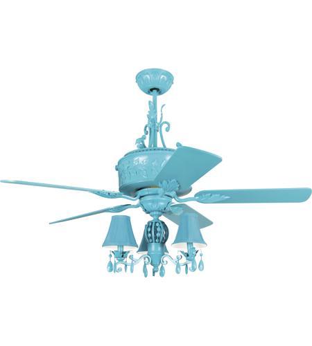 Antoinette 54 Inch Turquoise Ceiling Fan