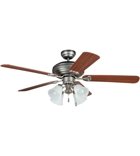 Craftmade BFT52AN5C Beaufort 52 inch Antique Nickel with Reversible Ash and Mahogany Blades Ceiling Fan photo