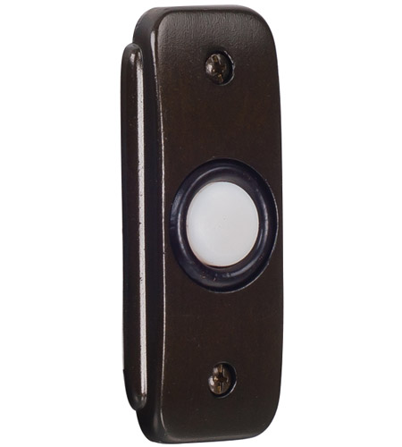 Craftmade BR2-BZ Stepped Rectangle Bronze Lighted Push Button photo