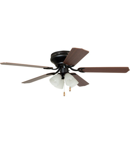 Craftmade BRC52ORB5C Brilliante 52 inch Oiled Rubbed Bronze with Reversible Cherry and Mahogany Blades Ceiling Fan in Oil Rubbed Bronze, White Frosted Glass photo