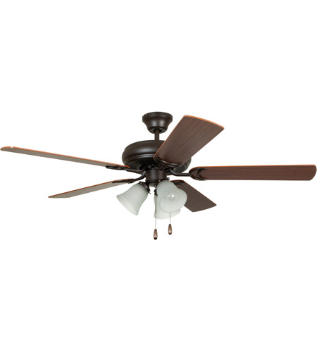 Craftmade DCF52FBZ5C3 Decorators Choice 52 inch French Bronze with Reversible Dark Oak and Mahogany Blades Ceiling Fan photo
