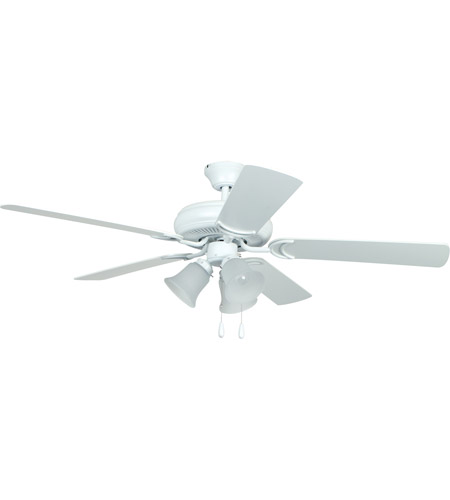 Craftmade DCF52MWW5C3 Decorators Choice 52 inch Matte White Ceiling Fan, Blades Included photo