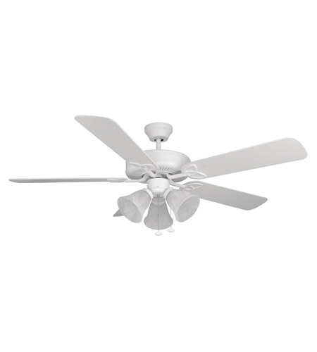 Craftmade Bld52mww5c3 Builder Deluxe 52 Inch Matte White Ceiling Fan