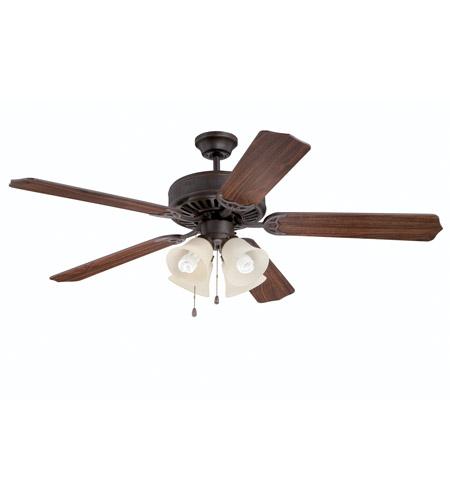 New 52 3 Light Bronze Indoor Ceiling Fan Best Price: Ellington By Craftmade Pro 204 4 Light 52-inch Ceiling Fan
