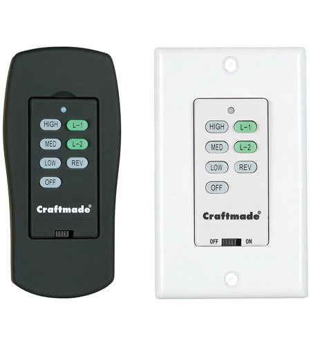 Craftmade CV-ICS-AW Cordova Antique White ICS Control System, Wall and Remote photo