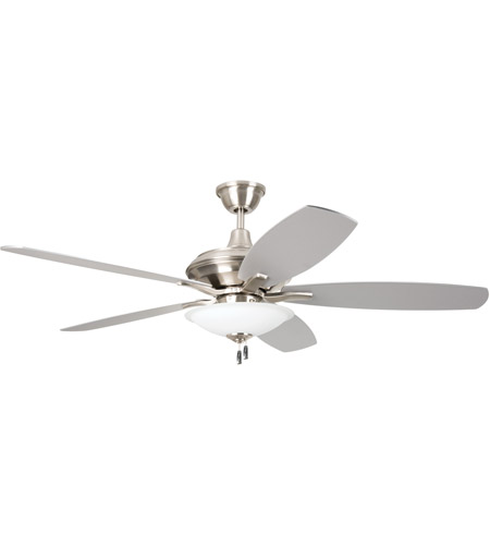 Craftmade Jam52bnk5 Led Jamison 52 Inch Brushed Polished Nickel With Reversible Blades Ceiling Fan Included