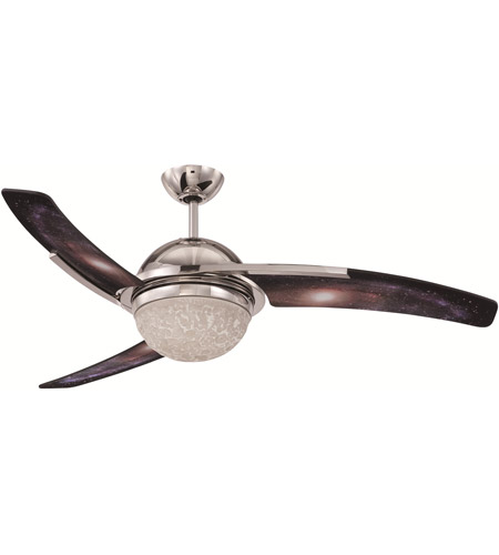 Craftmade JU54GLX3-LED Juna 54 inch Polished Nickel with Galaxy Blades Ceiling Fan in LED photo