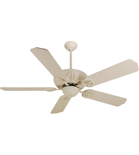 Craftmade K10102 Cordova 52 Inch Antique White Ceiling Fan Kit In Mdf Blades Standard Light Sold Separately Included