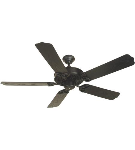 Craftmade K10163 Patio 52 Inch Flat Black Outdoor Ceiling Fan Kit In White Standard Light Sold Separately Blades Included