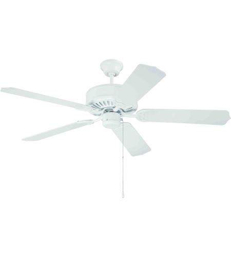 Pro Builder 52 Inch White Ceiling Fan