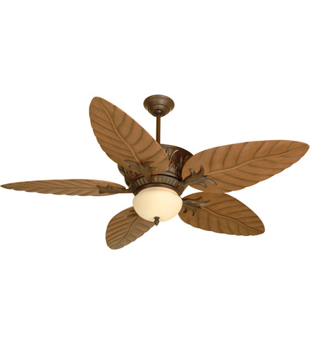 Craftmade K10241 Pavilion 54 Inch Aged Bronze Textured With Light Oak  Blades Outdoor Ceiling Fan Kit, Blades Included