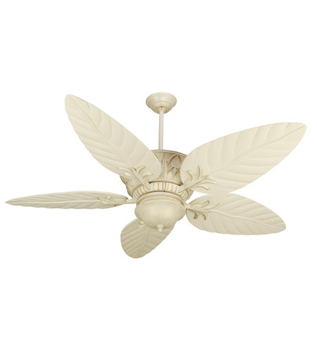 Craftmade K10248 Pavilion 54 Inch Antique White Distressed With Blades Outdoor Ceiling Fan Kit Included