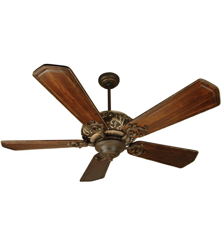 Craftmade K10327 Ophelia 56 inch Aged Bronze and Vintage Madera with Walnut and Vintage Madera Blades Ceiling Fan Kit in Light Kit Sold Separately, Custom Carved Ophelia Walnut/ Vintage Madera, Blades Included photo