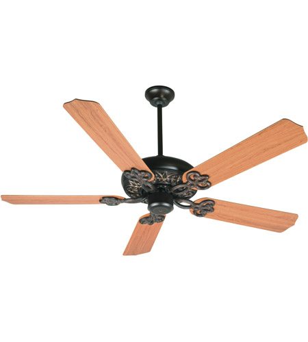 Craftmade K10437 Cecilia 52 inch Oiled Bronze Gilded with Teak Blades Ceiling Fan Kit in Contractor Standard, Blades Included photo