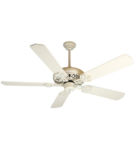 Craftmade K10615 Cecilia 52 Inch Antique White Distressed With Blades Ceiling Fan Kit In Contractor Standard Included