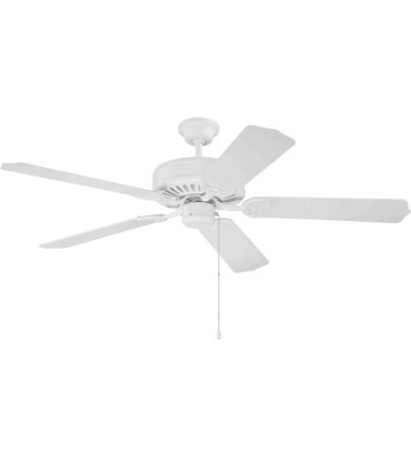Craftmade K10621 Pro Builder 52 Inch White Ceiling Fan Kit In Contractor White