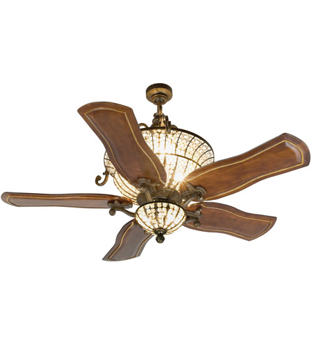 Craftmade K10663 Cortana 54 inch Peruvian Bronze with Walnut Blades Ceiling Fan Kit photo