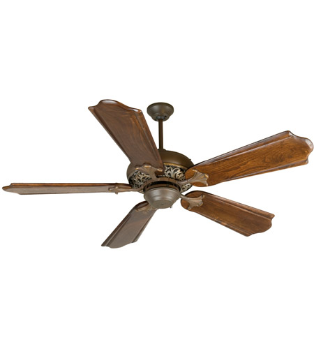 Craftmade K10730 Mia 56 Inch Aged Bronze And Vintage Madera With Clic Ebony Blades Outdoor Ceiling Fan Kit In Custom Carved Solid Wood