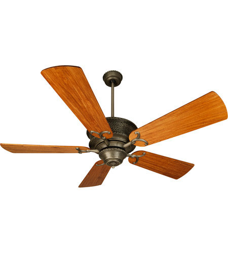 Oak Ceiling Fans With Lights : Craftmade k riata inch antique nickel with hand