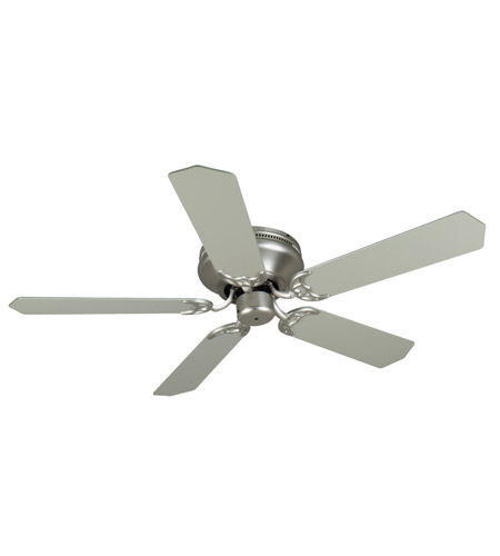 Craftmade K11001 Pro Contemporary 52 Inch Brushed Satin Nickel With Blades Flushmount Ceiling Fan Kit In Contractor Standard Light Sold