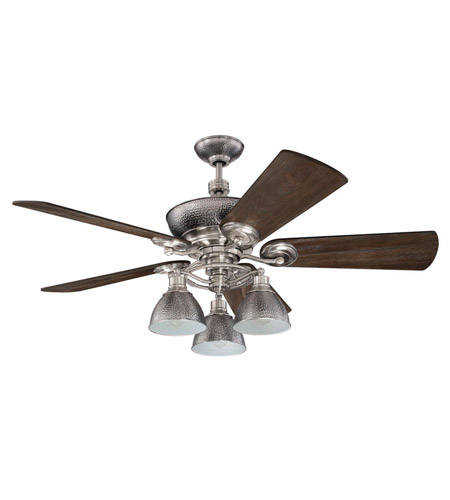 Craftmade k11065 timarron 54 inch brushed polished nickel with craftmade k11065 timarron 54 inch brushed polished nickel with blackwood blades ceiling fan kit in premier 7 pewter blades included aloadofball Images