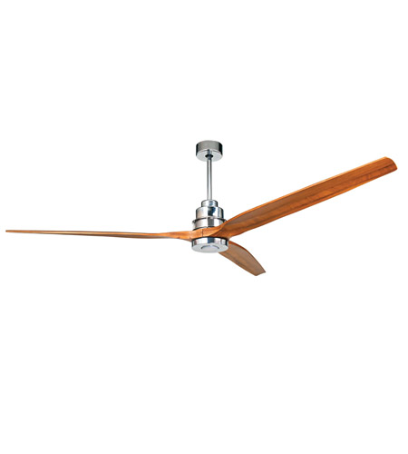 Craftmade K11069 Sonnet 70 inch Chrome with Light Oak Blades Ceiling Fan Kit in 70