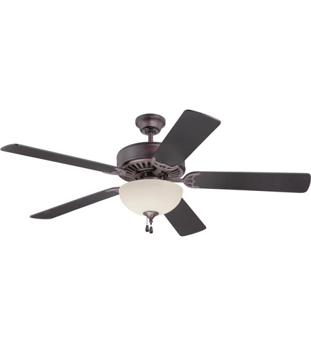 Craftmade K11105 Pro Builder 202 52 inch Oiled Bronze Ceiling Fan Kit in Custom Carved Oiled Bronze, Blades Included photo
