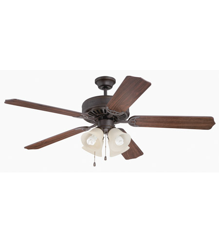 Craftmade K11109 Pro Builder 204 52 inch Aged Bronze Textured with Walnut Blades Ceiling Fan Kit in Contractor Plus Walnut photo