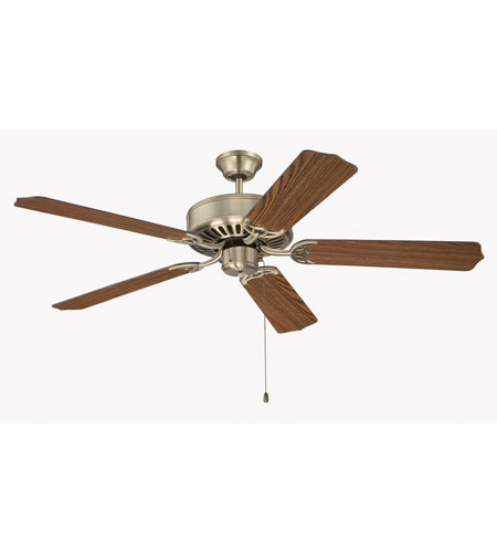 Craftmade K11131 Pro Builder 52 inch Antique Brass with Dark Oak Blades Ceiling Fan Kit in Contractor Plus Dark Oak photo