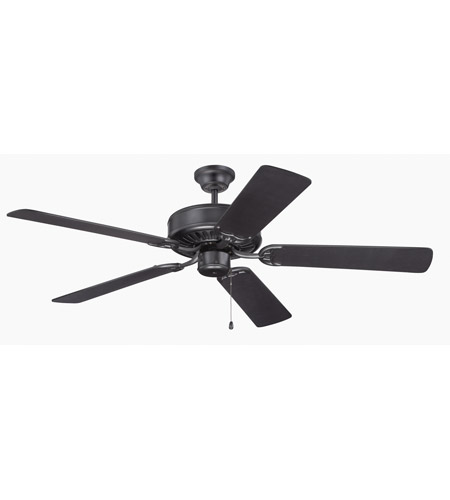 Craftmade K11136 Pro Builder 52 Inch Flat Black Ceiling Fan Kit In Contractor Plus Blades Included