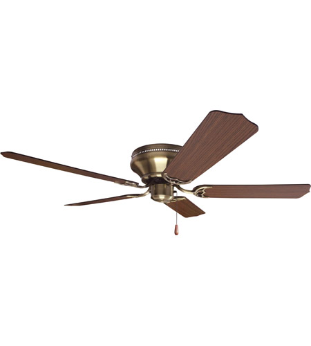 Craftmade K11242 Pro Contemporary 52 Inch Antique Brass With Cherry Blades Flushmount Ceiling Fan Kit In Light Kit Sold Separately Contractor Cherry